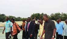 Hon. Mahama Ayariga visits UEW & National Sports College, Winneba